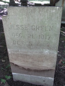 Jesse Green, tombstone