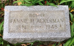 Ackerman, Fannie M