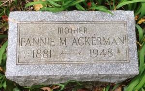 Ackerman, Fannie M