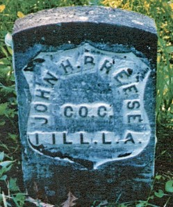 photo of John H. Breese tombstone