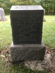 Brown family tombstone
