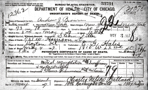 Brown, Andrew J - death certificate