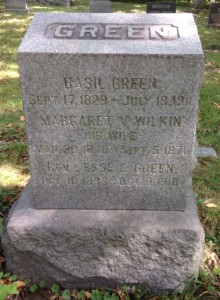 Basil Green, tombstone