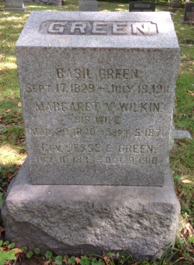 Margaret Green, tombstone
