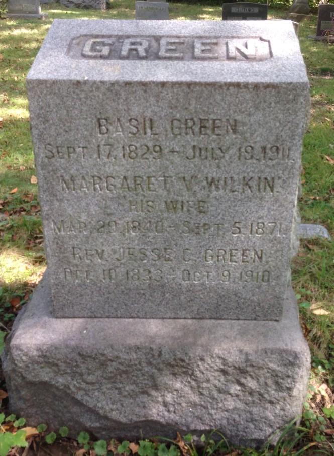 Margaret Green, tombstone