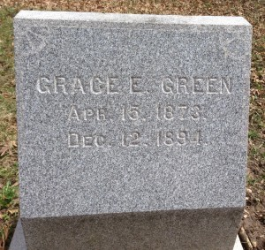 Grace Green tombstone