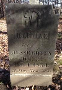 Isabella Trumbo Green, tombstone