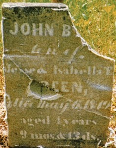 picture of John B. Green tombstone