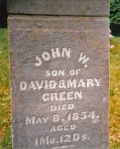 picture of John W. Green tombstone