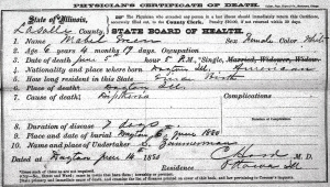 Mabel Green death certificate