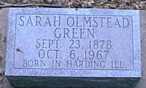Sarah Green tombstone