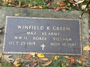 Winfield R Green, tombstone