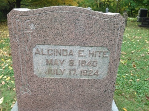 Alcinda Hite, tombstone