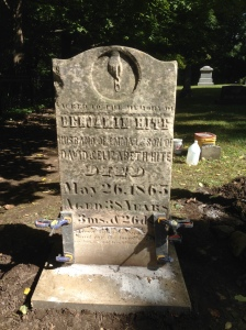 Benjamin Hite, tombstone