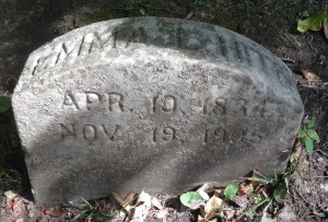 Emma Hite tombstone