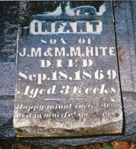 photo of Hite, infant son-tombstone