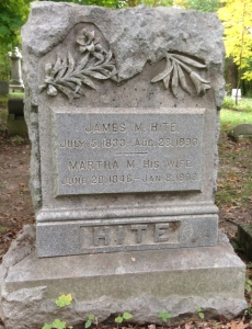 picture of James and Martha Hite tombstone