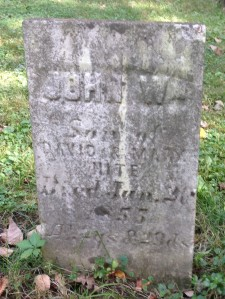 John W Hite, tombstone