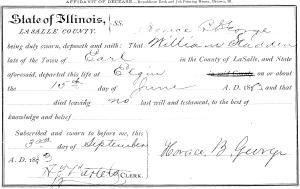 William Stadden death certificate