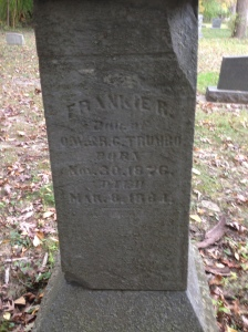 Frankie R Trumbo, tombstone