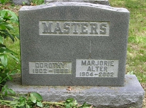 photo of Dorothy and Marjorie Masters - tombstone