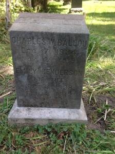 Charles Ballou tombstone