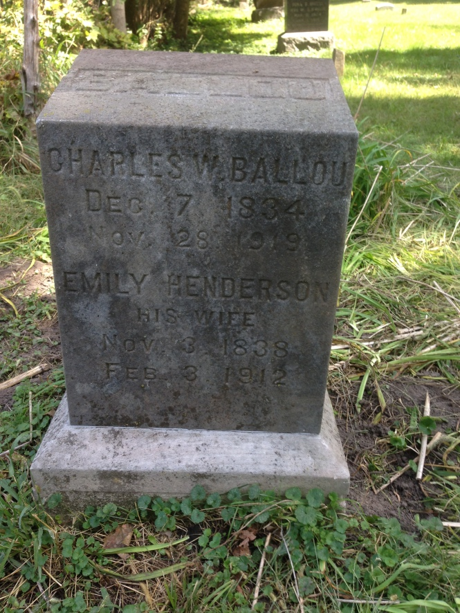 Charles Ballou tombstone