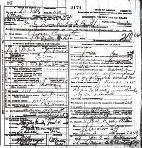Bennett, George - death certificate
