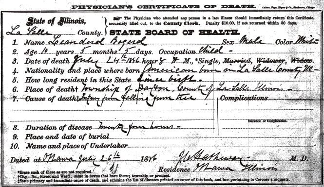 Bogerd, Leanderd - death certificate