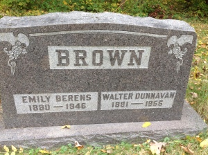 Brown, Walter and Emily - tombstone