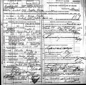 Carter, Lillie Hoag - death certificate