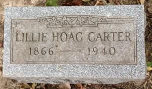 Lillie Hoag Carter tombstone