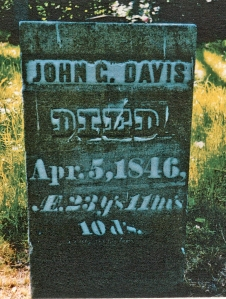 photo of Davis, John G - tombstone