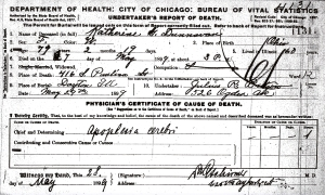 Dunavan, Katherine G - death certificate