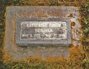 Dunavan, Katherine - tombstone