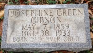 Josephine Green Gibson, tombstone