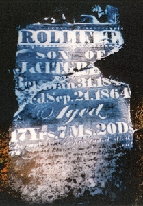 photo of Green, Rollin T - tombstone