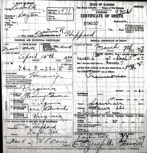 Hippard, Frances R - death certificate