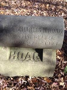 Charles H Hoag, tombstone