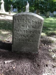 Cyrus Hoag tombstone