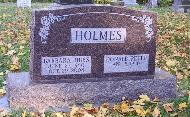 photo of Barbara Holmes - tombstone