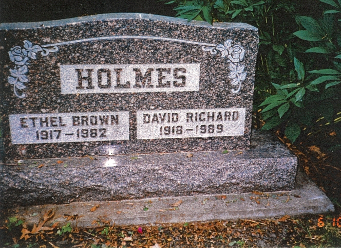 photo of Holmes, David and Ethel - tombstone