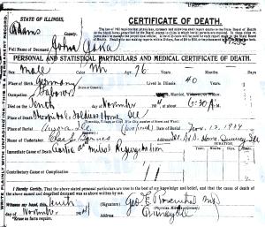 Jaka, John - death certificate