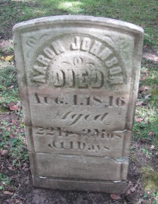 Aaron Johnson tombstone