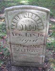 Aaron Johnson tombstone