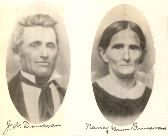 Joseph Albert and Nancy Green Dunavan