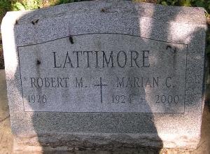 photo of Lattimore tombstone