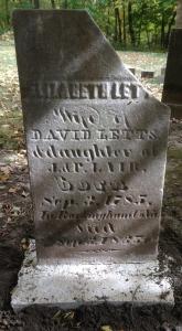Elizabeth Lair Dunavan Letts, tombstone