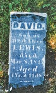 photo of Lewis, David - tombstone