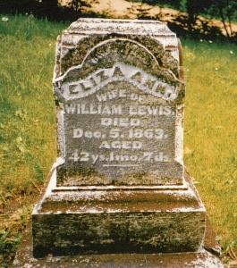 photo of Lewis, Eliza Ann - tombstone